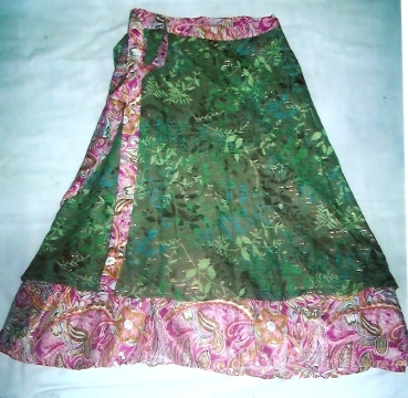 ART SILK SKIRTS FROM INDIA  MED SIZE