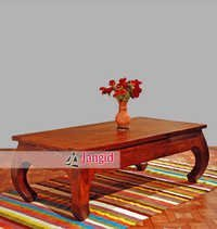 Indian Living Room Wooden Coffee Table Design