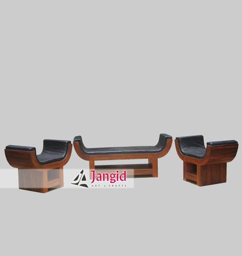 Wooden Living Room Sofa Set