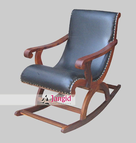 Indian Sheesham Wooden Rocking Chair