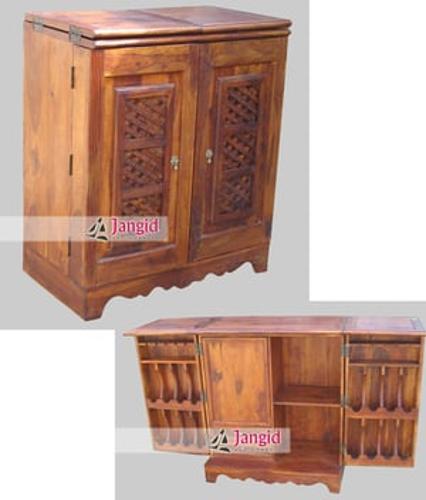 Indian Sheesham Wooden Wine Bar