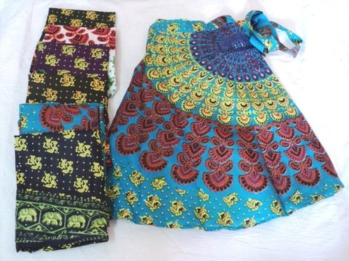 RAYON PRINTED MED.SIZE SKIRTS