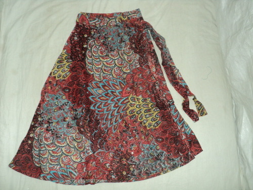 COTTON PRINTED NEW MED.SIZE SKIRTS