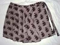 ELEPHANT PRINTS WRAPE ROUND SKIRTS MED.SIZE