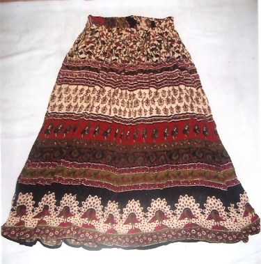 RAYON TRADITIONAL PRINTED SKIRTS WHOLESALE