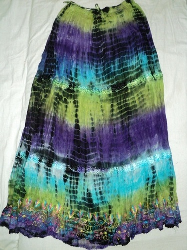 RAYON WITH EMBROIDERY SKIRTS LONG