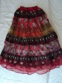 RAYON PATCHWORK EMB.LONG SKIRTS