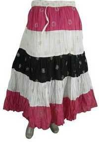COTTON PATCHWORK LONG SKIRTS