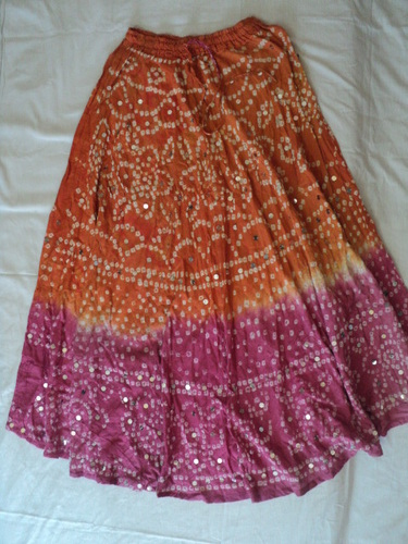 COTTON TIE DYE JAIPURI SKIRTS