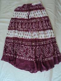 COTTON TIE DYE SKIRTS WHOLESALE