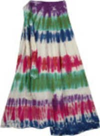 COTTON HAND TIE DYE WRAPE ROUND SKIRTS