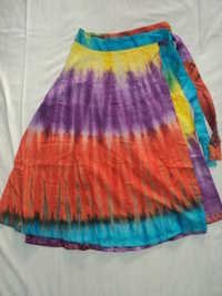 COTTON TIE DYE MED.SIZE SKIRTS
