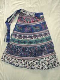 COTTON PRINTED NEW ELEPHANT MED.SIZE SKIRTS