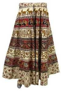 COTTON PRINTED STRINGS SKIRTS