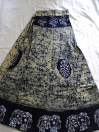 COTTON BATIK LONG SKIRTS PRINTED