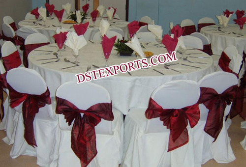 WEDDING CHAIR COVER WITH SASHAS