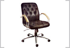 Leatherite Mid Back Chair