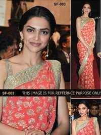 Bollywood Replica Orange Saree