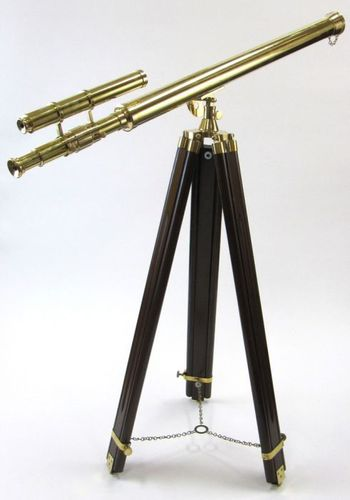 Griffith Brass Telescope with black colour wooden tripod stand