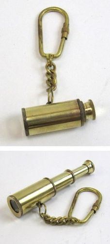 Brass Keychain Pullout Telescope