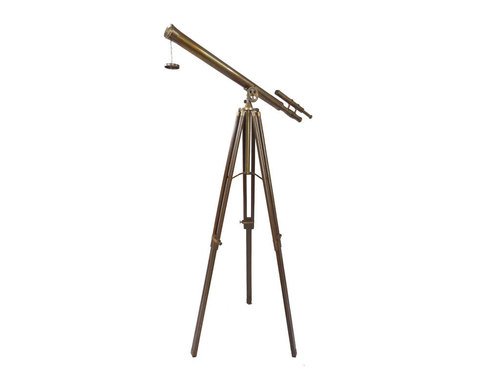 Griffith Antique Telescope With wooden tripod folded Stand