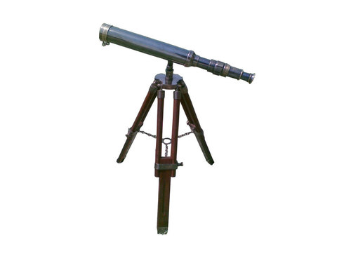Home Decor Brass Telescope with Antique finish with tripod stand
