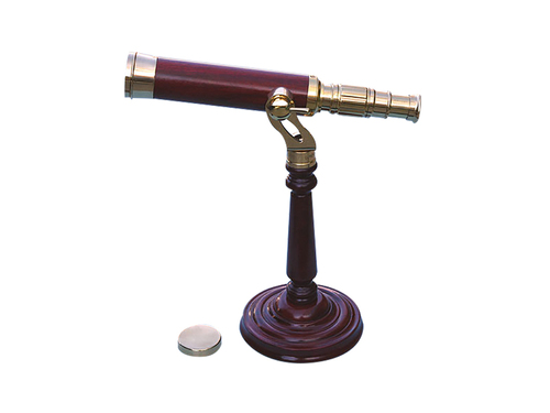 Bras Telescope Spotting Wooden stand