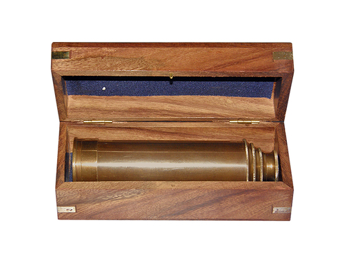 Antique Brass Telescope 14inch, Retractable with box