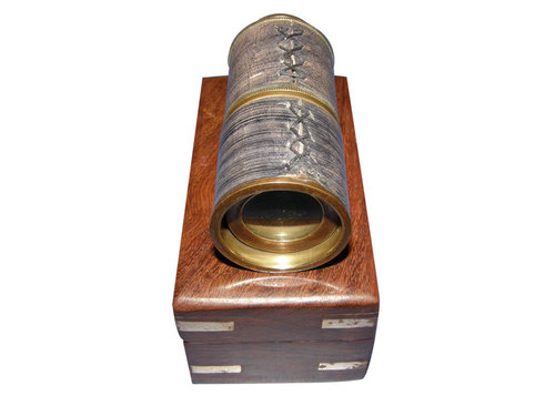 Antique Pullout Telescope Wooden Box 5inch