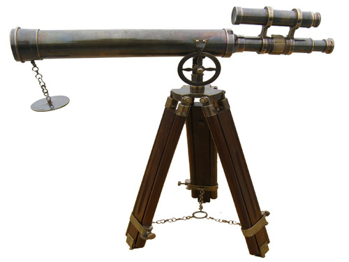 Double Barrel Telescope Black Antique 18 inch