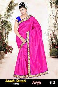 designer saree with lace