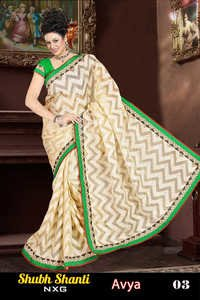 saree with designer butta lace