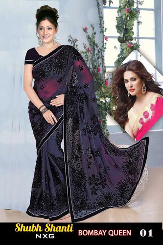 fesigner saree bombay queen style