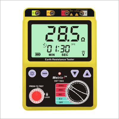 Digital Earth Resistance Tester