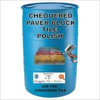 Chequered Paver Block Tile Polish