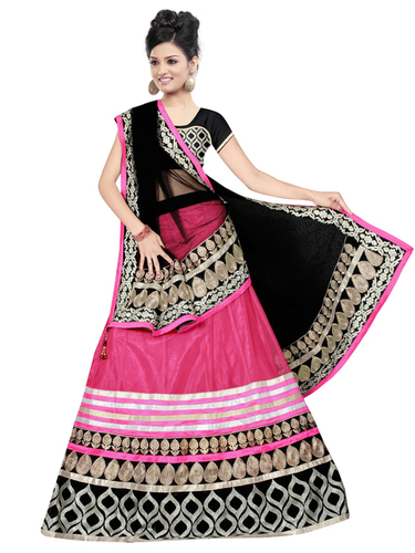Bollywood Replica Pink With Black Lehanga