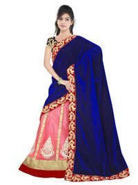 Designer Stylish Blue With Pink Colour Lehanga