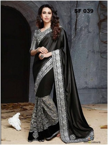 Bollywood  Replica Black Saree