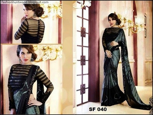 Bollywood  Replica Firozi Black Saree