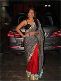 Bollywood  Replica Red With Black Saree