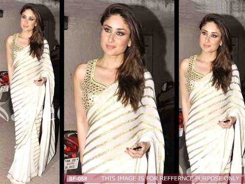 Bollywood  Replica White Saree