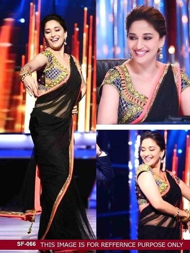 Bollywood  Replica Black Color Party Wear Saree