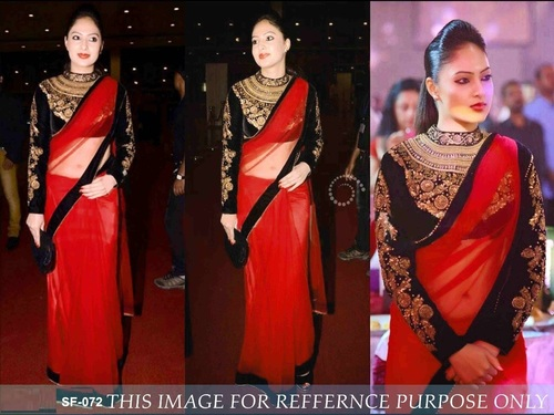 Bollywood  Replica Red Saree