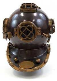 Black Aluminum Divers Helmet