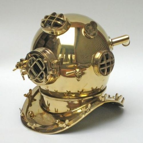 Divers Helmet Mark V Special Edition Brass Plain