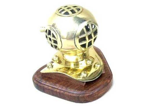 Base Diver Helmet With Wooden Stand