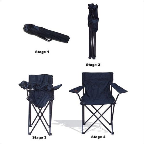 Forest Camping Black Chairs