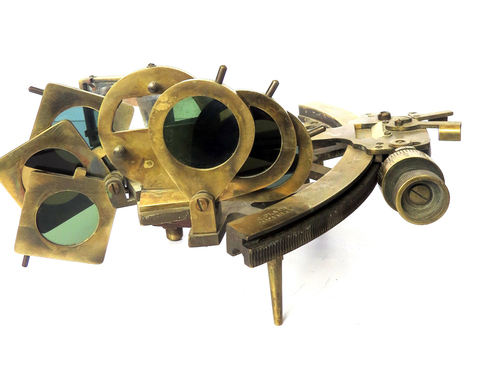 Brass Micrometer Sextant