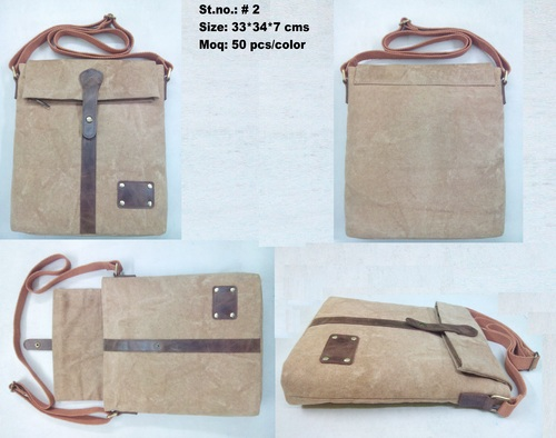 Canvas Messenger Satchel Bag