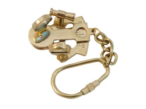Brass Sextant Keychain